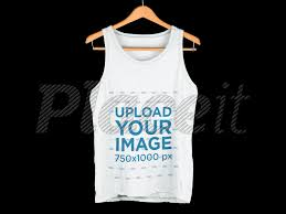 Tank Top Mockup Placeit Tank Top Hanging Over A Flat Backdrop Clothing Mockup
