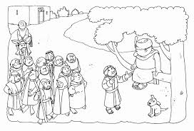 He was curious about jesus and wanted to see him. Zacchaeus Coloring Page Printable Coloring Home