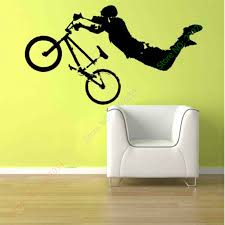 boy giant bmx bike bicycle wall art sticker decal home diy decoration wall mural removable bedroom decor sticker 56x102cm in wall stickers from home  on motorbike wall art australia with boy giant bmx bike bicycle wall art sticker decal home diy