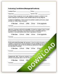 interview assessment form template candidate evaluation
