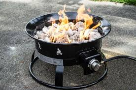 image of heininger portable propane outdoor fire pit