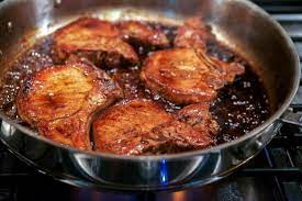 pan seared balsamic pork chops carrie