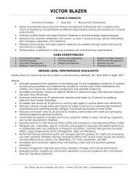 Resume For Finance Executive Senior Operating And Finance Executive