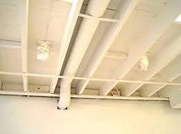 basement lighting ideas unfinished ceiling. Decoration-painted-white-color-unfinished-basement-wood-ceiling. Basement Lighting Ideas Unfinished Ceiling C