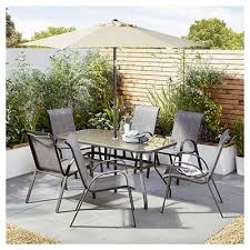 tesco seville 8 piece bronze dining set