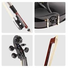 1 8 kids children natural acoustic violin fiddle with case box professional bow rosin al stringed instrument gifts