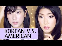 my hopefully informative tutorial on the difference between korean and american makeup styles at their pure states i usually like to wear a hybrid of