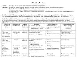 Sample Work Plans Appealing Business Work Plan Template Example With Purpose And 11