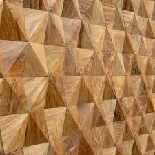 geometric timber panels natural wood