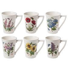portmeirion botanic garden mug set 6pce