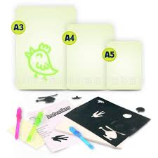 Funny Children Fluorescent Painting Board Durable Draw With