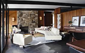 Mid Century Modern Living Room Furniture 6 Mid Century Modern Living Rooms Using Marble And Stone