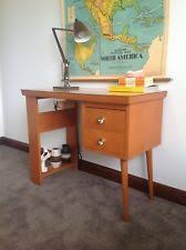retro home office. Vintage Retro 1960s Students Desk, Hall Table Industrial Office Home