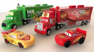 disney cars lightning mcqueen toys. Disney Pixar Mack Truck And Cars Lightning Mcqueen Toys From YouTube With