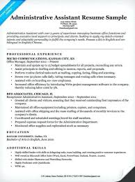 Administrative Resume Template New Office Assistant Resume Sample Professional Financial Administrative