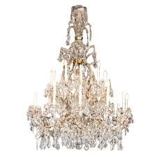 a gorgeouonumental french crystal chandelier circa 1920s as seen in the