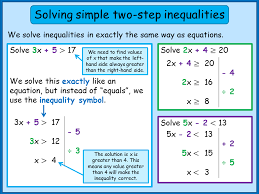 solving two step inequalities norledgemaths