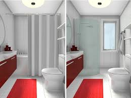 small bathroom with tub vs shower before after