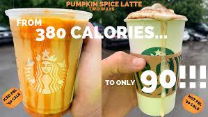 low calorie pumpkin e latte lean