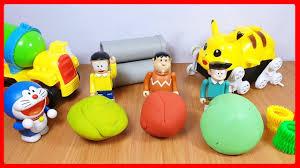 Đồ chơi Doremon hoạt hình #3 - Nobita và Chaien đi tìm bánh xe cho PIKACHU  - Stop motion toys - YouTube