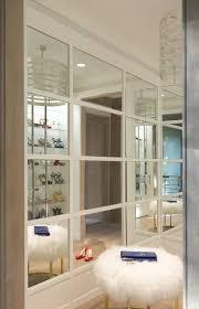 mirrored closet wall