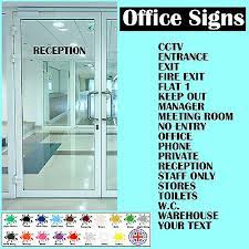 office door signs self adhesive vinyl