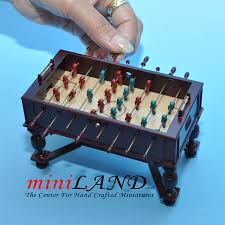Miniature Wooden Foosball Table Game Highly Detailed Miniature Wooden Foosball Tables 11