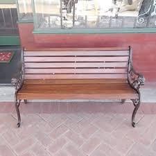 victorian cast iron garden bench seat