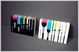 freelance makeup artist business cards 3586