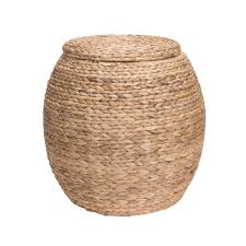 Amazon.com: Household Essentials Large Round Water Hyacinth Wicker Storage  Basket with Lid: Home & Kitchen