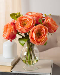 Peach Garden Rose Arrangement. Peach