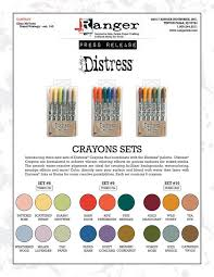 Tim Holtz Ranger Distress Crayons New Sets To Complete