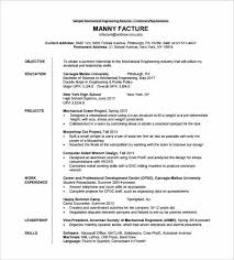 Resume Sample In Pdf Simple Resume Format Mechanical Engineer Resume