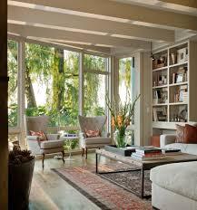 Living Room Bookshelves Shocking Wingback Chair Decorating Ideas