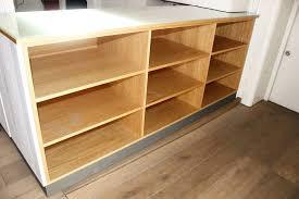 custom made wooden shelving unit for