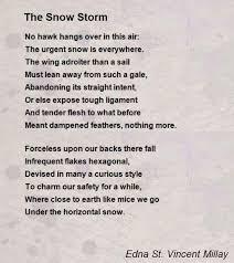 the snow storm poem by edna st vincent