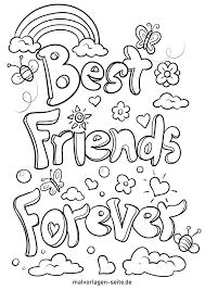 Kannst ja ein bilder von euch bei dm oder so ausdrucken und in einen bilderrahmen stellen gibt welche bei 1€shops. Malvorlage Freundschaft Best Friends Forever Kostenlose Ausmalbilder
