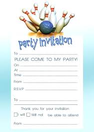 Inexpensive Bowling Birtay Party Invitation Ideas With