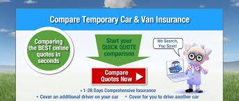 compare temporary car insurance