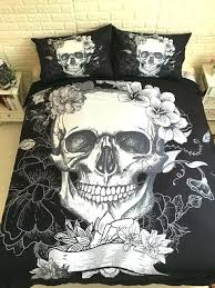 skull crib bedding set sugar skull sheets skull bedding sets black and white duvet covers for