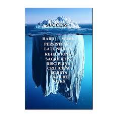 Success Posters Success Quotes Inspirational Canvas Wall Art Iceberg Artwork