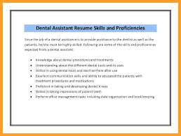 Resume For Dental Assistant Dental Assistant Skills Resumes Dental Fascinating Dental Assistant Resume Skills