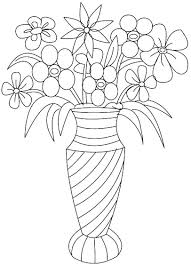 Small Picture Free Coloring Pages Of Flowers In A Vase Coloring Pages