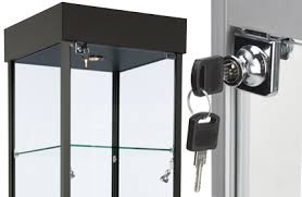 display cabinets with locks secure
