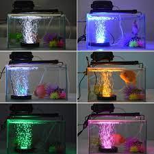 Hồ Cá Đèn LED Chiếu Sáng Điều Khiển Hồng Ngoại Từ Xa RGB 16 Màu Sắc Thay  Đổi Cá Đèn LED Bong Bóng Không Khí Đá Dưới Nước Aquario Ánh Sáng  d30|Lightings