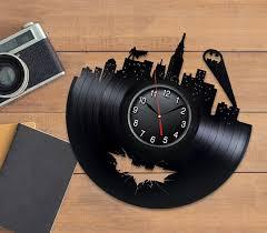 Record Gifts Batman Gifts Vinyl Record Clock Gift For Him Batman Clock Wall