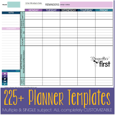 How To Customize Your Teacher Planner The Ultimate Weekly Planner
