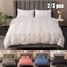 solid pinch pleat duvet comforter cover