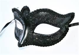 Glitter Mask Designs Black Eye Mask With Glitter Swan Design