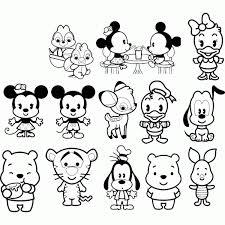 Coloring Pages Cute Disney Color Bros